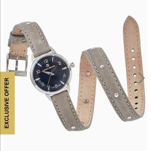 Lucky Brand Torrey mini grey studded wrap watch